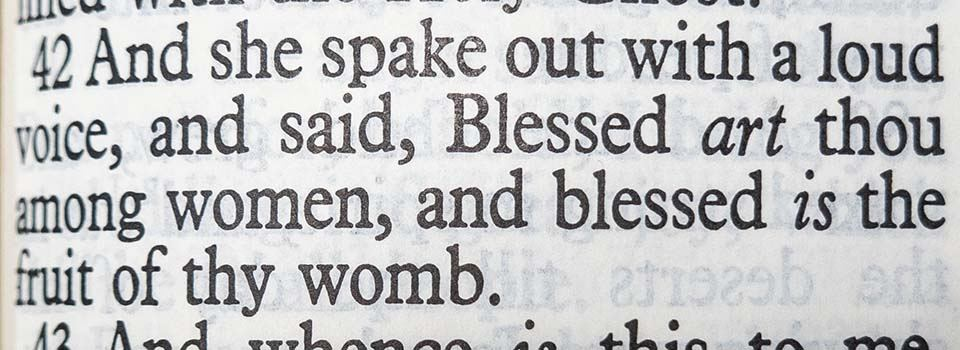 bible verses about abortion luke 1:42